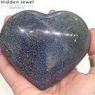 Lazulite Healing Stone Hearts - x large