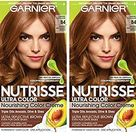 Garnier Nutrisse Ultra Color Nourishing Permanent Hair Color Cream, B4 Caramel Chocolate 2 Count Brown Hair Dye