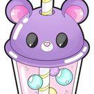 💜Cute Bear Bubble tea Background💜 on We Heart It