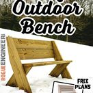 DIY Outdoor Bench in 30 mins w/ only 3 Tools! | Plans by Rogue Engineer