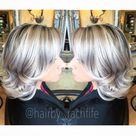 Silver blonde granny hair trend is here Who loves this take on platinum blonde Who knew grey hair would be in Color created using redken shades eq gloss. Hair by Rachel fife at Sara Fraraccio salon