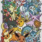 SG030 Pokemon go cross stitch pattern pdf Stained glass cross stitch pattern pdf BUY 2 GET 1 FREE  modern cross stitch pattern