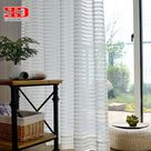 Modern Striped Window Tulle Curtains for Living Room White Voile Sheer Curtains for - Trivoshop - W200cmxL270cm / Rod pocket
