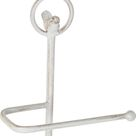 Toilet Roll Holder DKD Home Decor White Metal 32 x 27.5 x 82 cm