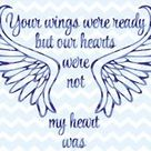 SVG DFX Your Wings Were Ready Our Hearts Were Not   Etsy