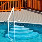 Blue Wave NE100BL Pool Step, Wedding Cake, Above Ground Pool Step - Blue