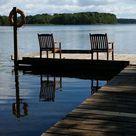 Ferien Am Wasser in einem Blockhaus am See