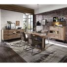 Starkes Design: Esszimmer Möbel Kombination Eiche Dunkel