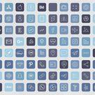 Storm Blue iOS 14 App Icons