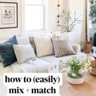 how to (easily) mix + match throw pillows