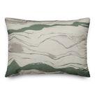 Flowing Lines Indoor/Outdoor Throw Pillow