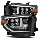 AlphaRex 14-20 Toyota Tundra NOVA LED Proje Headlights Plank Style Black w/Activation Light
