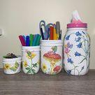 Fairies in the flower Garden Desk Accessories, Flower Pencils Holder, Desk Organizer, Desk Office Decor, Butterfly Decor, Gift for Girl
