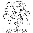 Oona, character from Bubble Guppies coloring page printable game