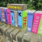 Ziegelsteinbücher für den Garten