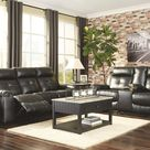 Kempten Reclining Sofa 8210588 Black Contemporary motion upholstery