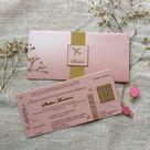 Boarding Pass Wedding Invitation Destination Wedding Invite gold foiled names aviation airplane travel theme passport plane ticket