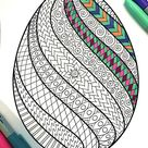 Swirl Easter Egg  PDF Coloring Page | Etsy