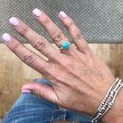 Turquoise Round Gemstone Ring