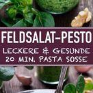 Feldsalat Pesto - die schnelle Spaghetti Sauce