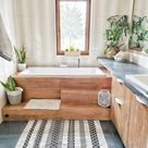"""Olivra Homedecor on Instagram """"Simple wooden styled bathroom😍 Share with one of your Friends, Tag them👇🏻🧡 🏠Follow us olivra.homedecor 🌿Follow us olivra.homedecor…"""""""