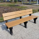 The bench that both dogs and humans love.