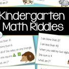 Kindergarten Math Riddle Bundle