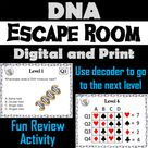 DNA Structure and Function Activity Biology Escape Room Science