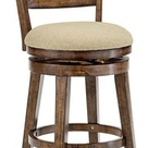Country - Cottage Hillsdale Lenox Chestnut Swivel Bar Stool - Traditional - Bar Stools And Counter Stools - by Lamps Plus   Houzz