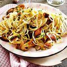 Spaghetti aglio e olio mit Steinpilzen Rezept    LECKER