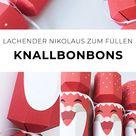DIY Knallbonbon als lachenden Nikolaus selber basteln (mit Vorlage)