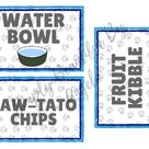 Paw Patrol Party Food & Water Labels
