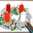 christmas advent wreath Adventskranz adult coloring xmas download art colouring home decor meditation xmas printable print lasoffittadiste