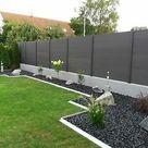 WPC Alu Sichtschutz Zaun Gartenzaun Windschutz Terrasse Garten Sichtschutzzaun   eBay
