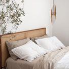 Bedroom Organic Modern Decor Wood Pendant Light | Ceiling Mid Century Chandelier Lighting Fixture