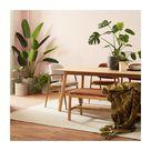 Aura Leather Dining Chair (Oak)