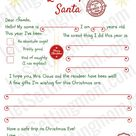 Free Printable Letter to Santa Template - Writing To Santa Made Easy!