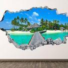 Beach wall vinyl   Etsy