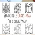 Zendoodle Christmas Coloring Pages
