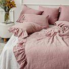 Mermaid ruffle linen pillow case. Standard queen king body   Etsy