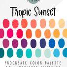 Tropic Sunset Procreate Color Palette