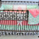 Coral Crib Bedding