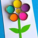 Bottle Cap Flower Craft for Kids - Crafty Morning