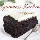 Guinnesskuchen Rezept - saftiger Schokoladenkuchen mit Topping