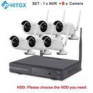 Video Surveillance Camera System Wireless CCTV Kit 1080P Ip NVR Kit Ip Camera Outdoor Security System Video Surveillance Kit - SETC 1x6 / 1T