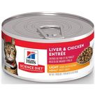 Hill's Science Diet Adult Light Liver & Chicken Entree Canned Cat Food, 5.5 oz