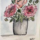 Sketchy Floral Bouquet | Letter Lane Design Studio