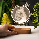 La Lumiere De La Proposition Cadeau 3d De Lampe De Nuit Pour Etsy Couple Gifts Gift For Lover Personalized Photo Gifts