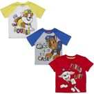 Paw Patrol Chase Marshall 3 Pack Graphic Short Sleeve T-Shirt - 3T / White