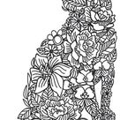 Floral Feline | Urban Threads: Unique and Awesome Embroidery Designs